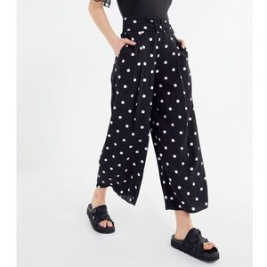 Polka Dot Belted Culottes Pant | Urban Outfitters